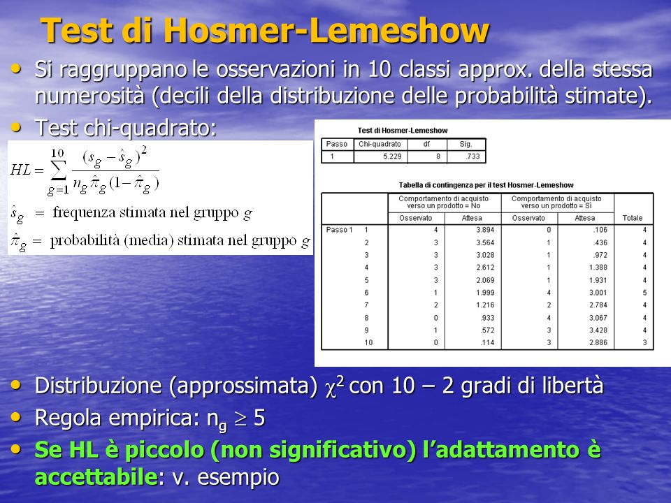 Test di Hosmer-Lemeshow