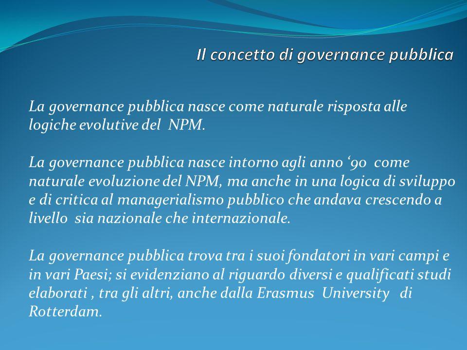 Il concetto di governance pubblica