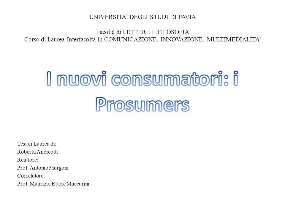 I nuovi consumatori: i Prosumers