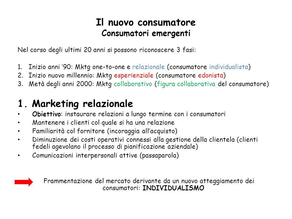 Il nuovo consumatore Consumatori emergenti