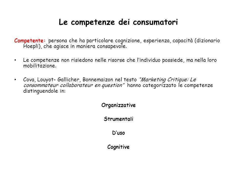 Le competenze dei consumatori