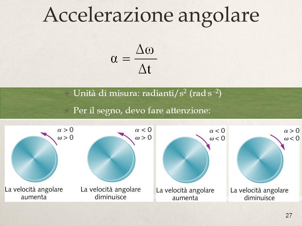 Accelerazione angolare