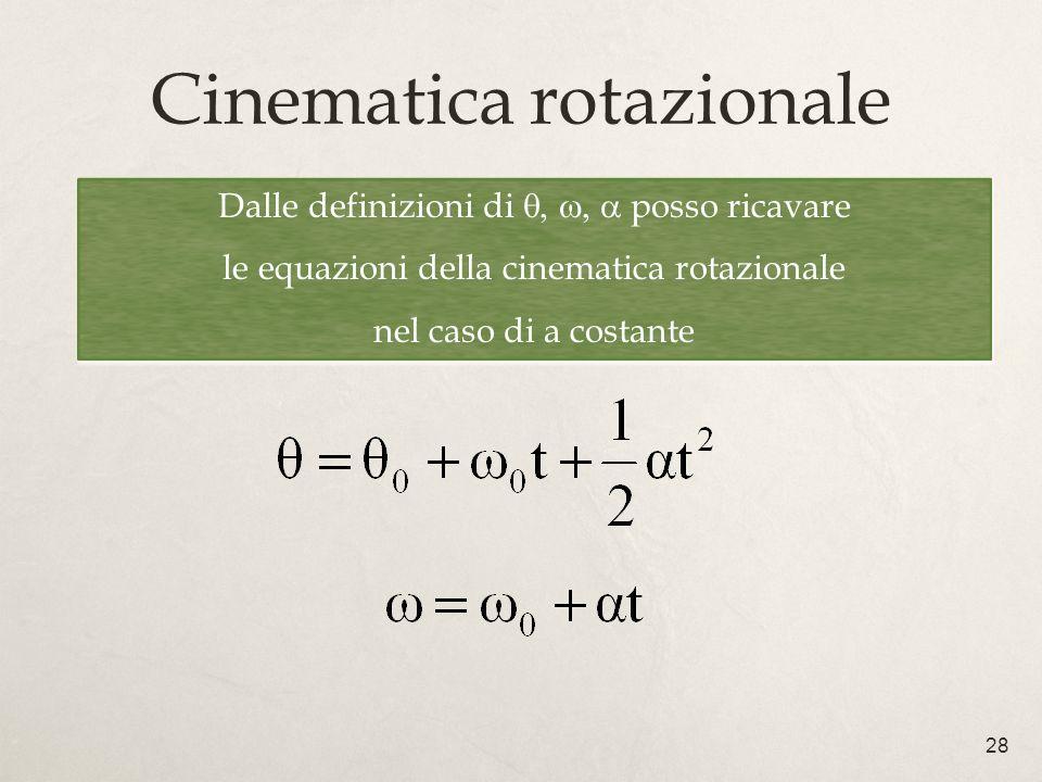 Cinematica rotazionale