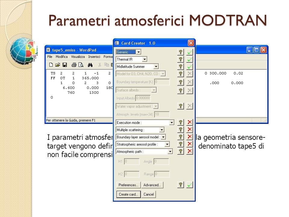 Parametri atmosferici MODTRAN