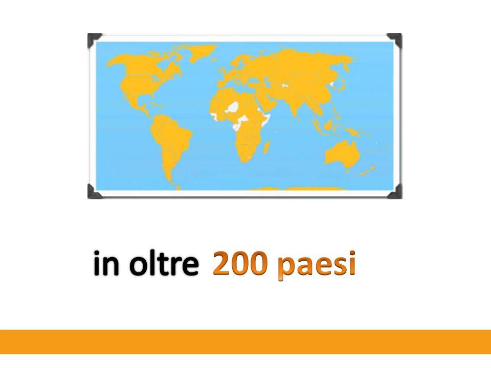 in oltre 200 paesi