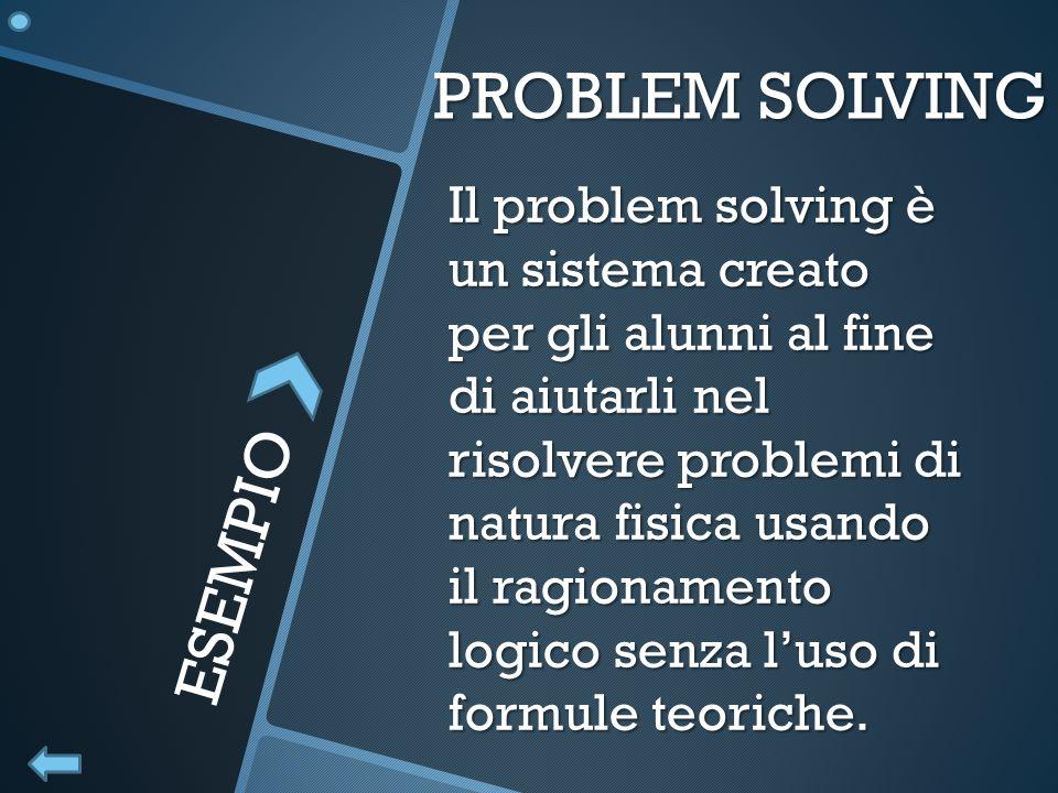 PROBLEM SOLVING ESEMPIO