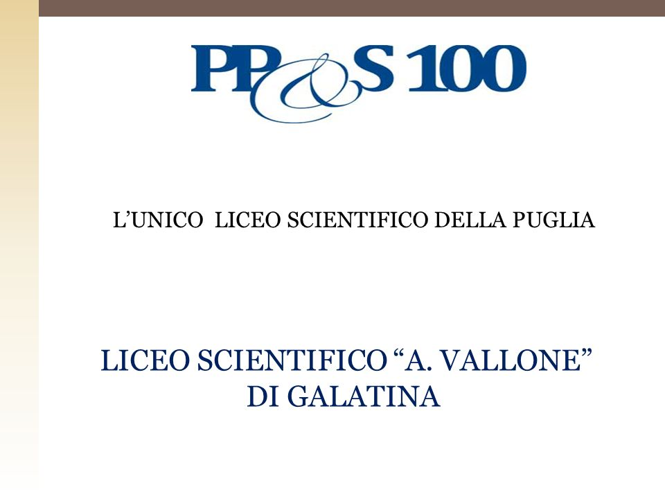 LICEO SCIENTIFICO A. VALLONE DI GALATINA