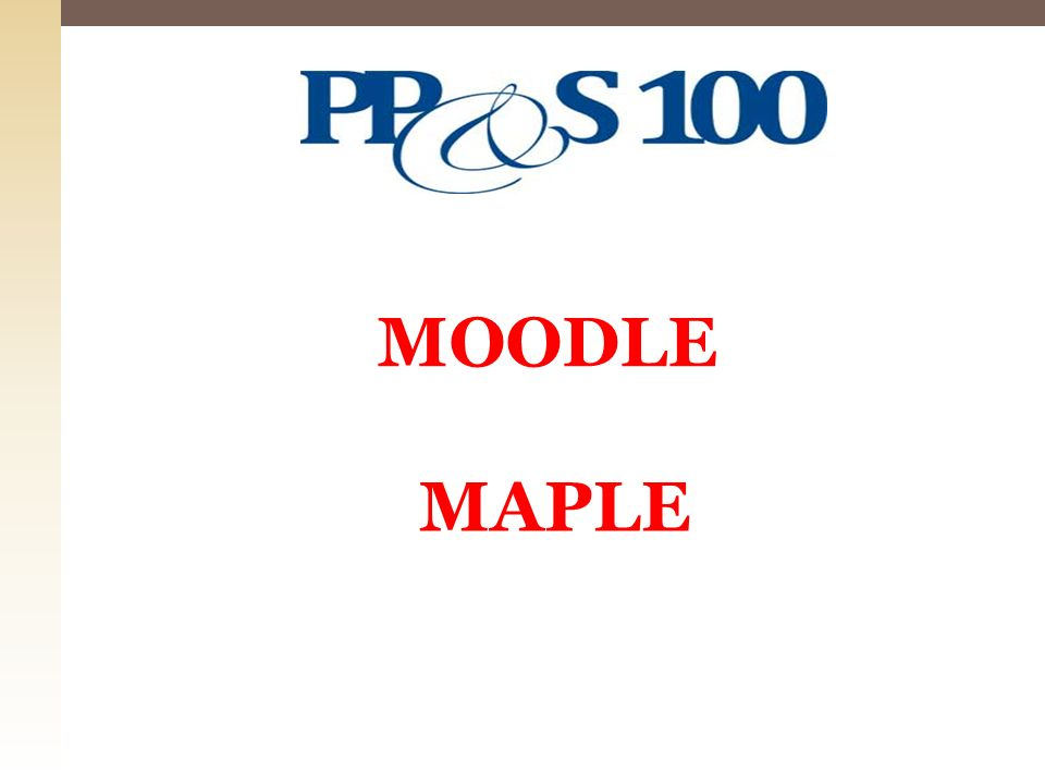 MOODLE MAPLE