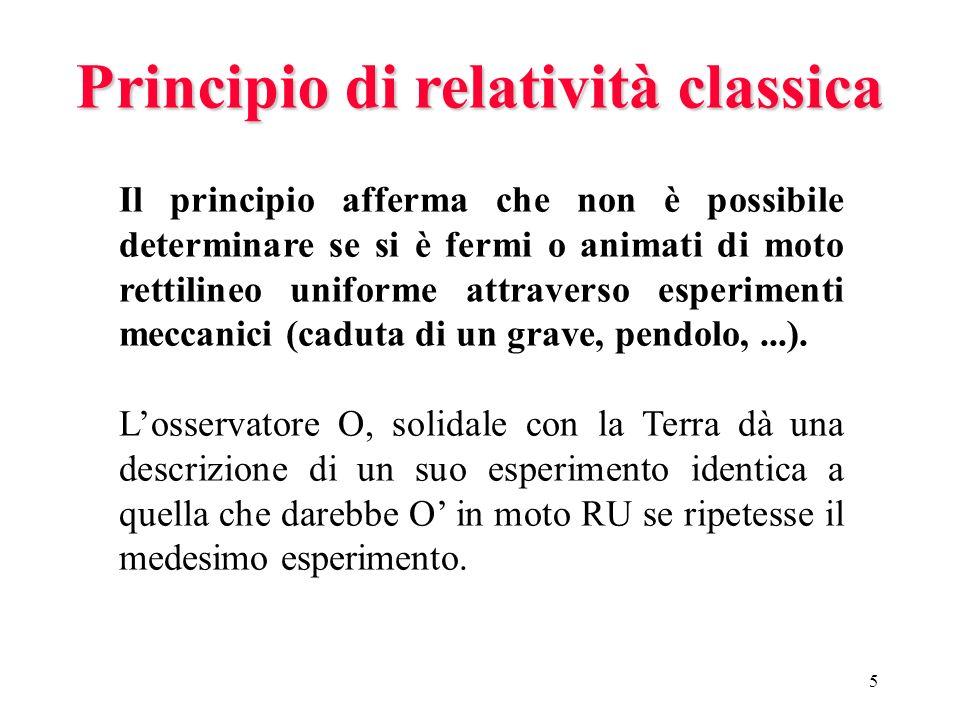 Principio di relatività classica