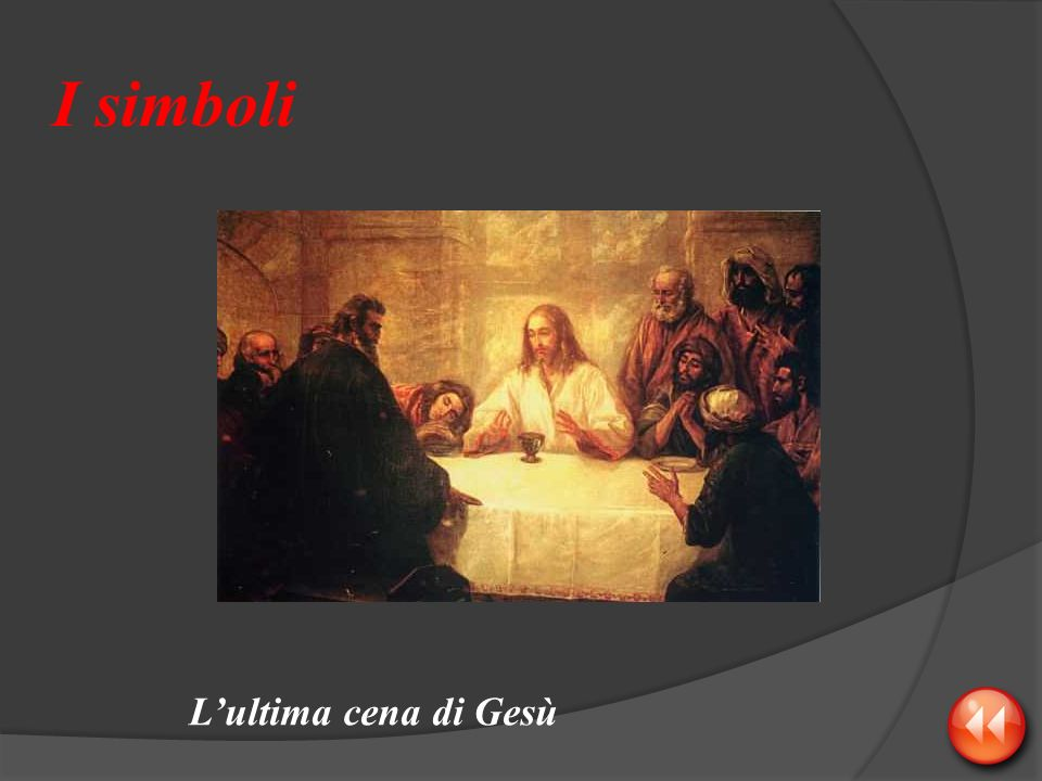 I simboli L'ultima cena di Gesù