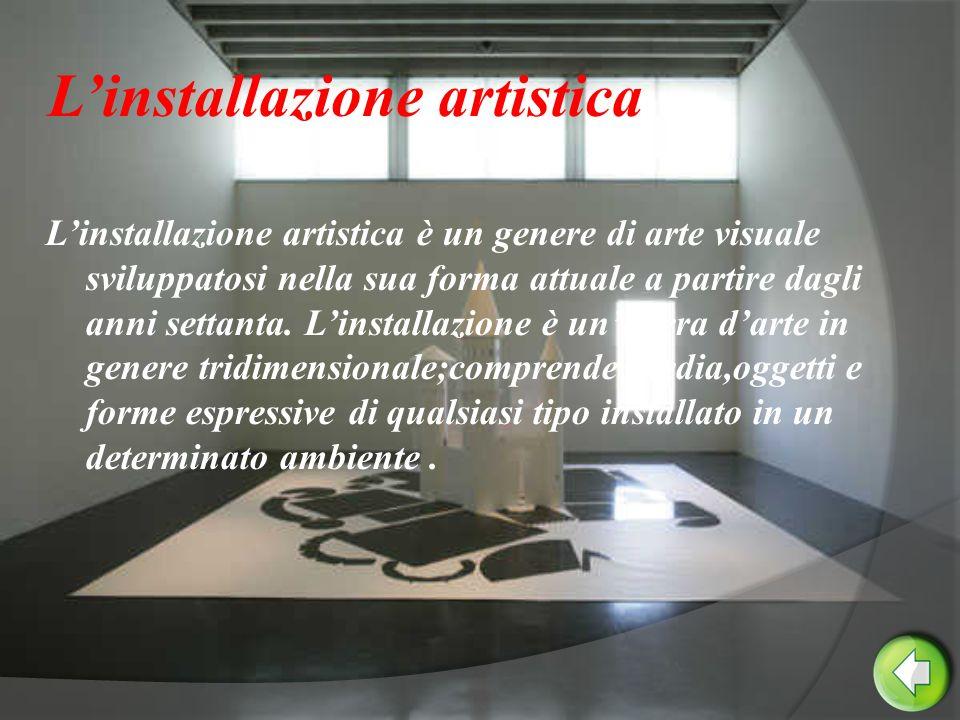 L'installazione artistica