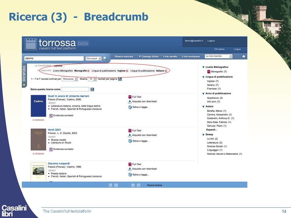 Ricerca (3) - Breadcrumb
