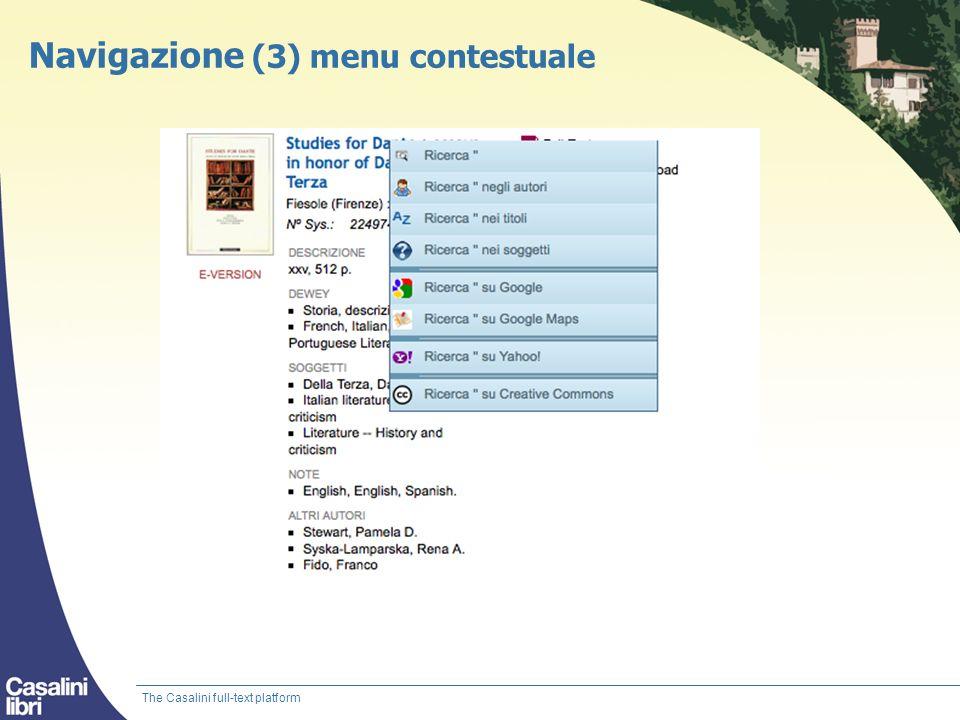 Navigazione (3) menu contestuale
