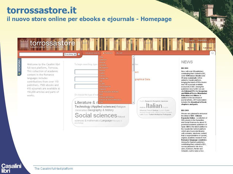 torrossastore.it il nuovo store online per ebooks e ejournals - Homepage