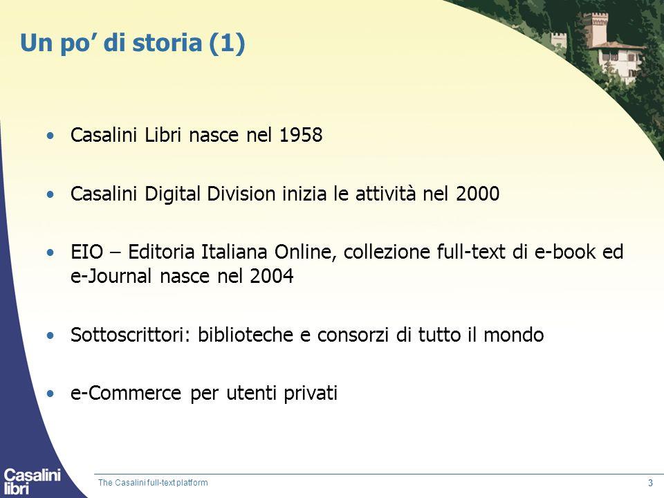 Un po' di storia (1) Casalini Libri nasce nel 1958