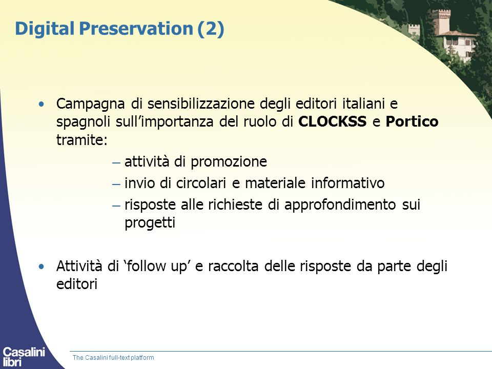 Digital Preservation (2)