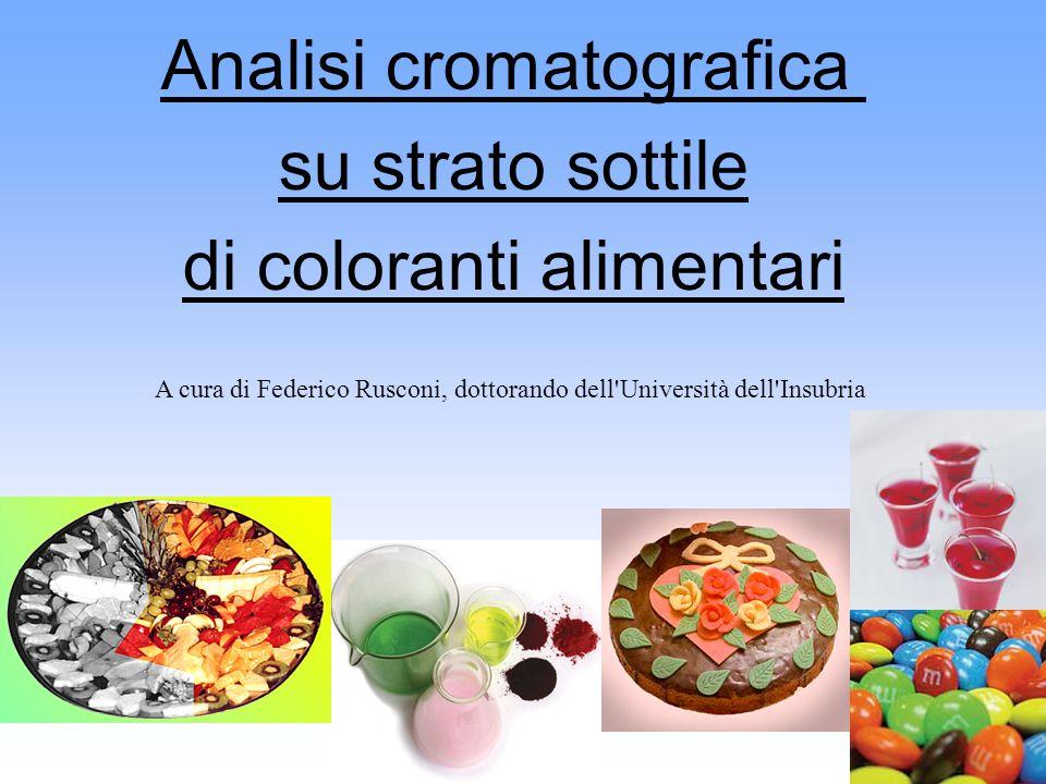 Analisi cromatografica su strato sottile di coloranti alimentari