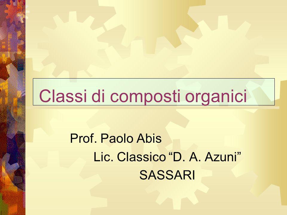 Classi di composti organici