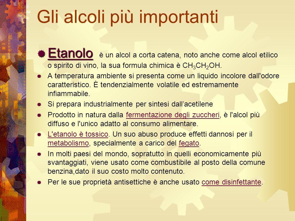 Gli alcoli più importanti