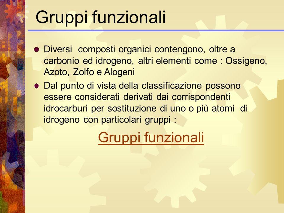 Gruppi funzionali Gruppi funzionali
