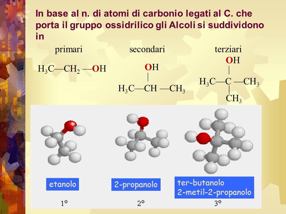 In base al n. di atomi di carbonio legati al C
