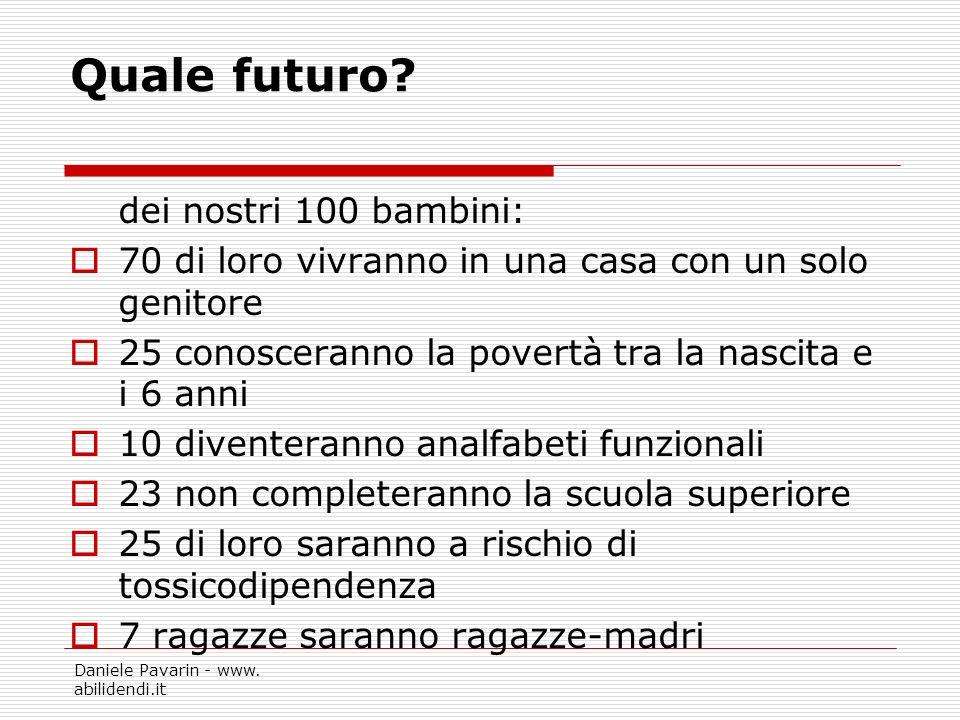 Quale futuro dei nostri 100 bambini: