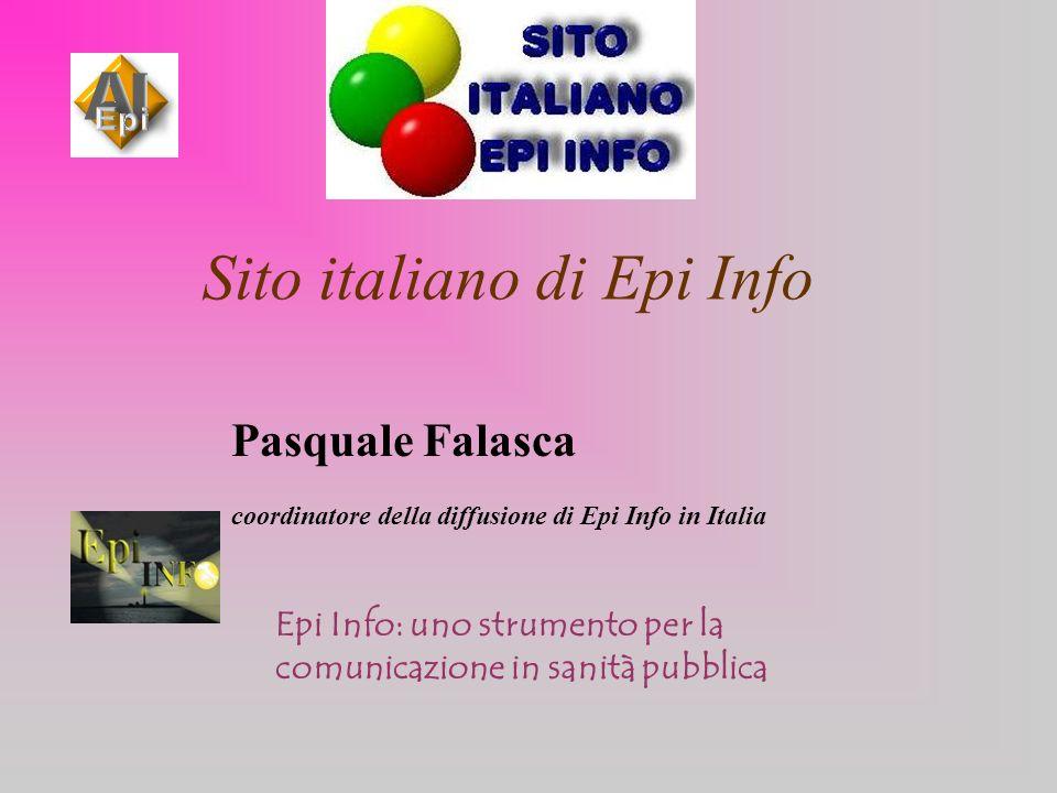 Sito italiano di Epi Info