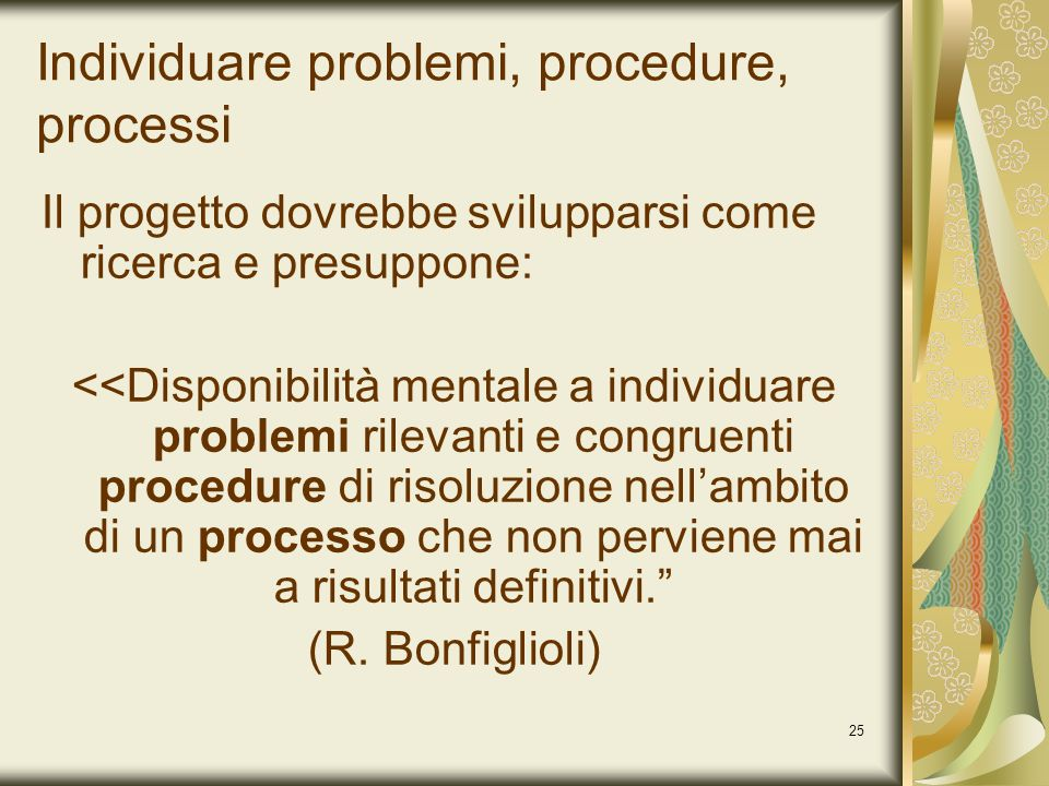 Individuare problemi, procedure, processi