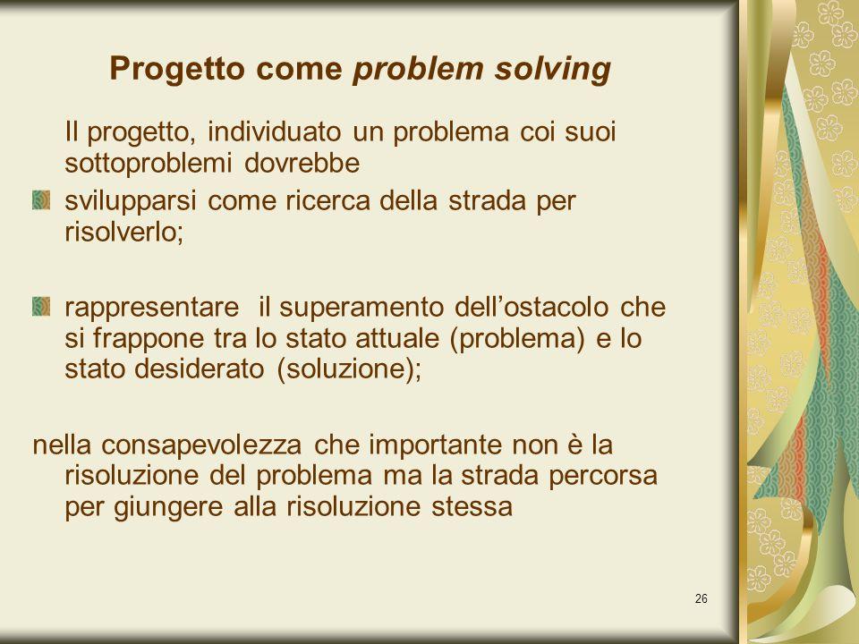 Progetto come problem solving