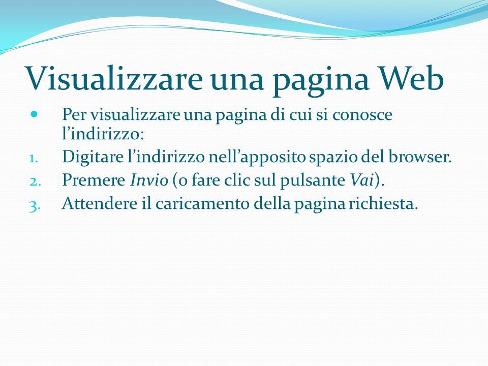 Visualizzare una pagina Web