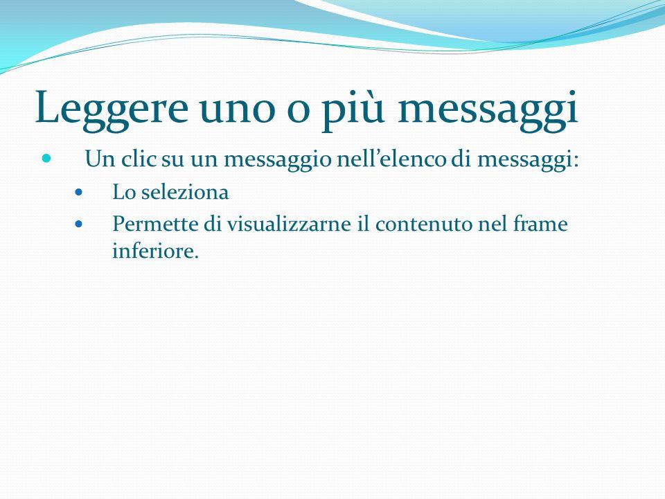Leggere uno o più messaggi