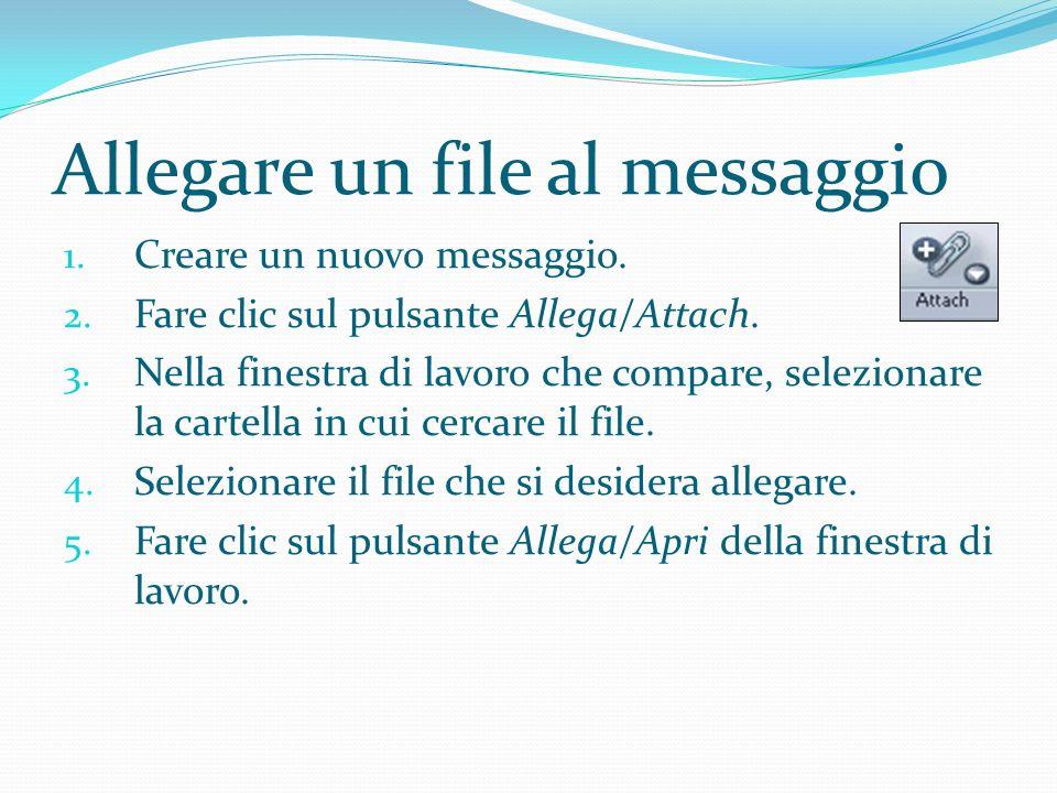 Allegare un file al messaggio