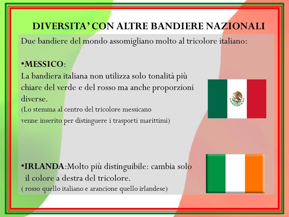 DIVERSITA' CON ALTRE BANDIERE NAZIONALI