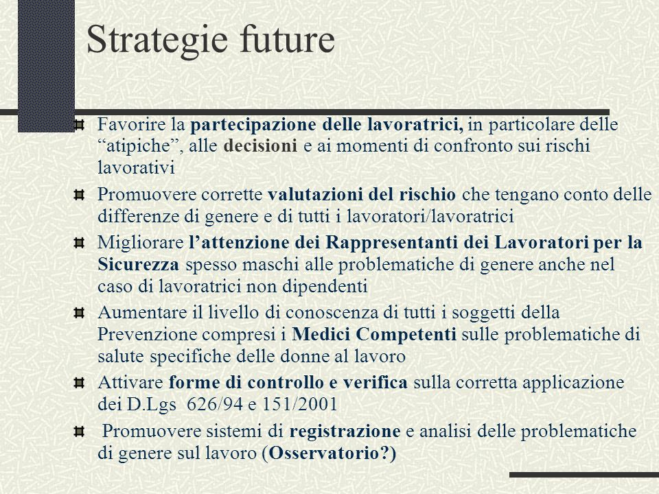 Strategie future
