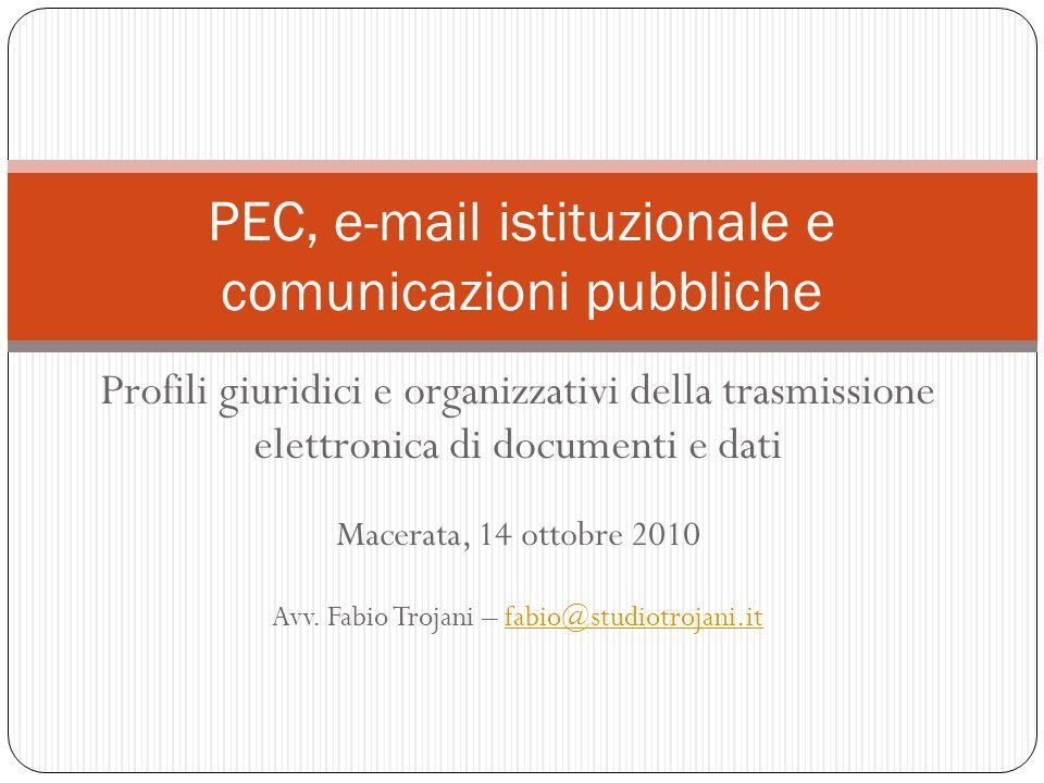 PEC, e-mail istituzionale e comunicazioni pubbliche