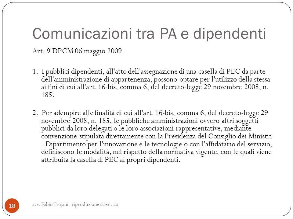 Comunicazioni tra PA e dipendenti