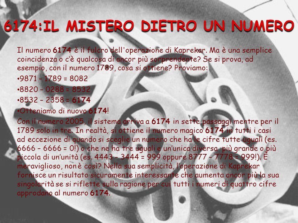 6174:IL MISTERO DIETRO UN NUMERO