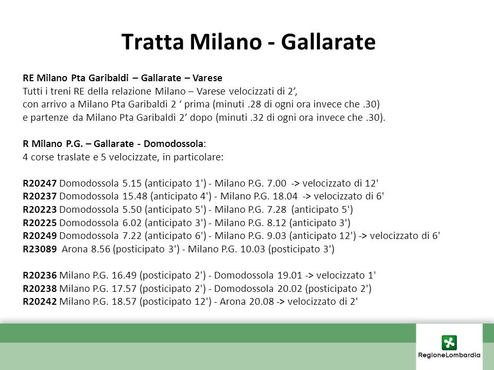Tratta Milano - Gallarate