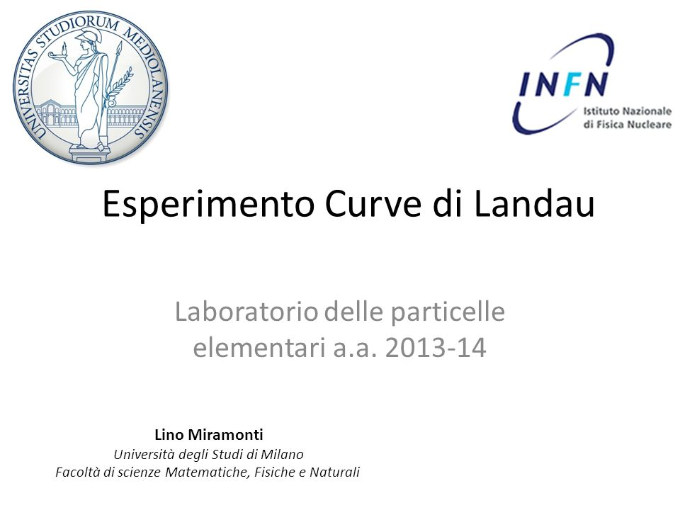 Esperimento Curve di Landau