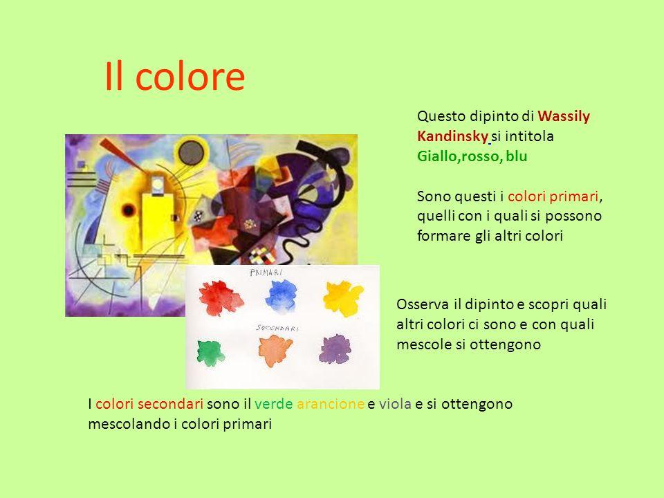Il colore Questo dipinto di Wassily Kandinsky si intitola Giallo,rosso, blu.