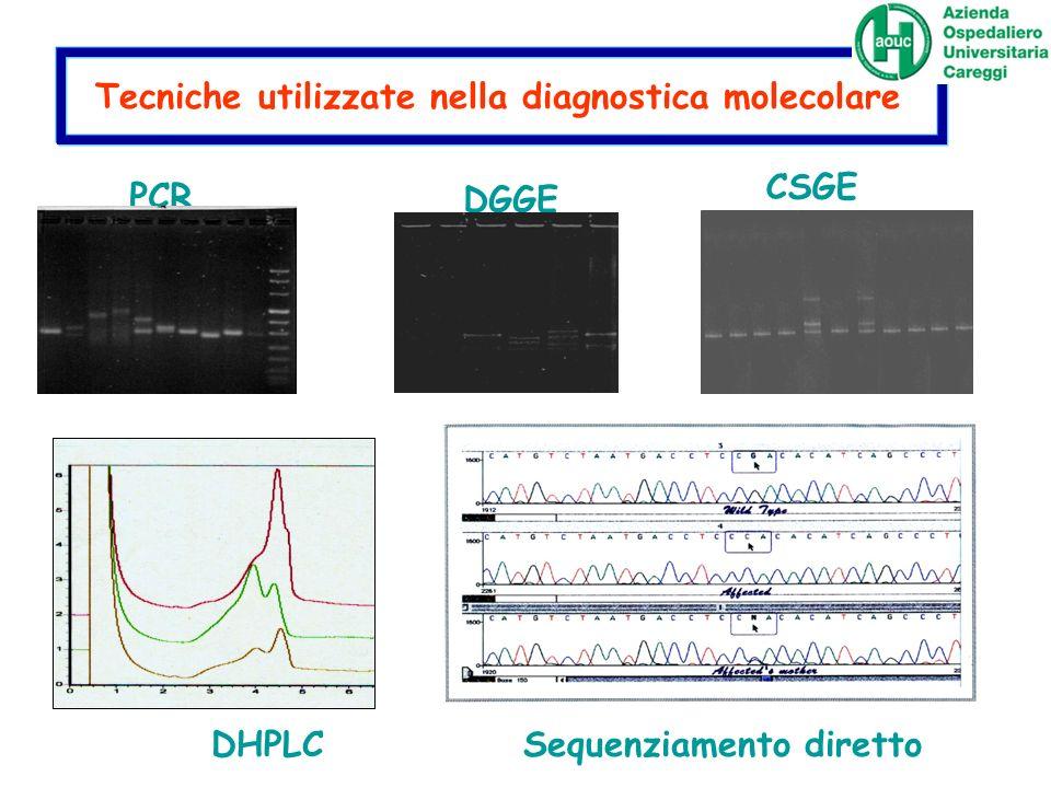 Tecniche utilizzate nella diagnostica molecolare
