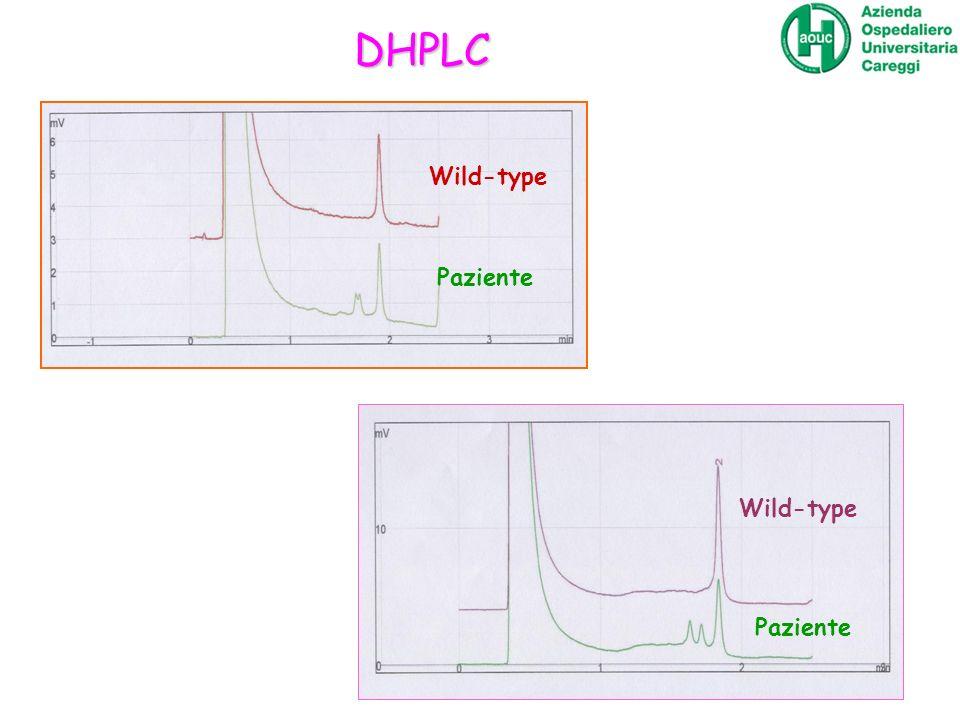 DHPLC Wild-type Paziente Wild-type Paziente