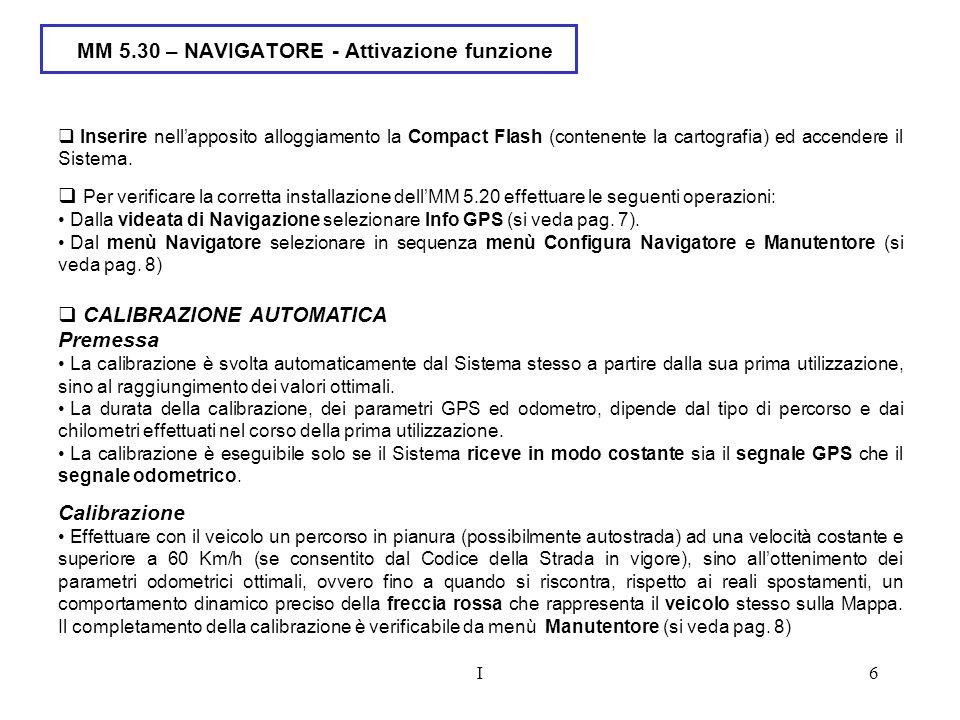 MM 5.30 – NAVIGATORE - Attivazione funzione