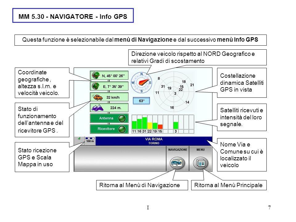 MM 5.30 - NAVIGATORE - Info GPS