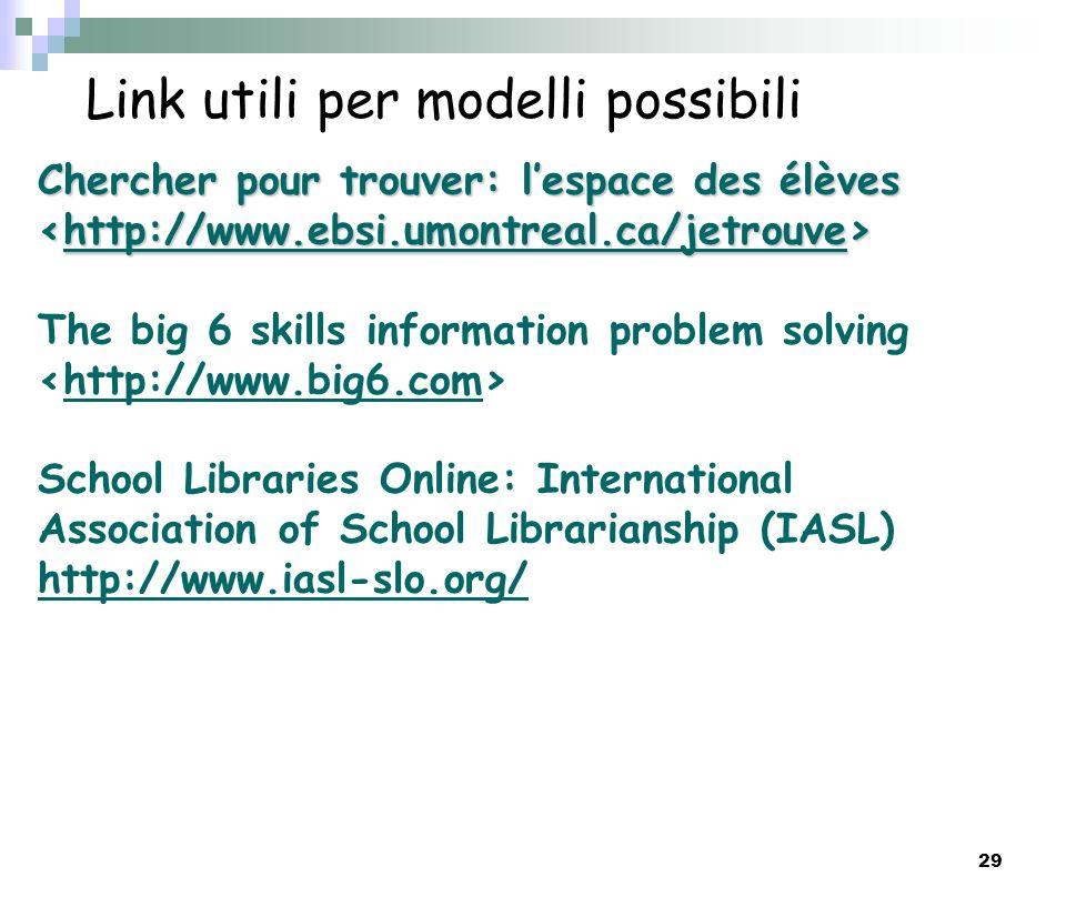 Link utili per modelli possibili