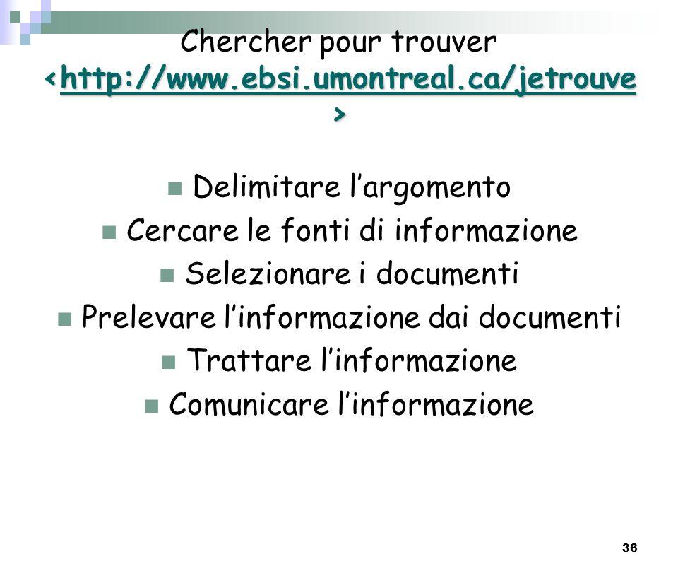 Chercher pour trouver <http://www.ebsi.umontreal.ca/jetrouve>