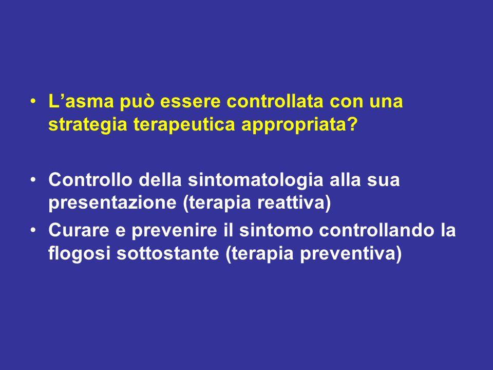 L'asma può essere controllata con una strategia terapeutica appropriata