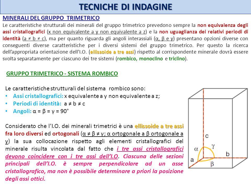 TECNICHE DI INDAGINE MINERALI DEL GRUPPO TRIMETRICO