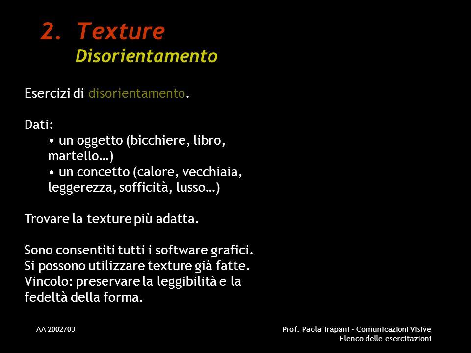 Texture Disorientamento