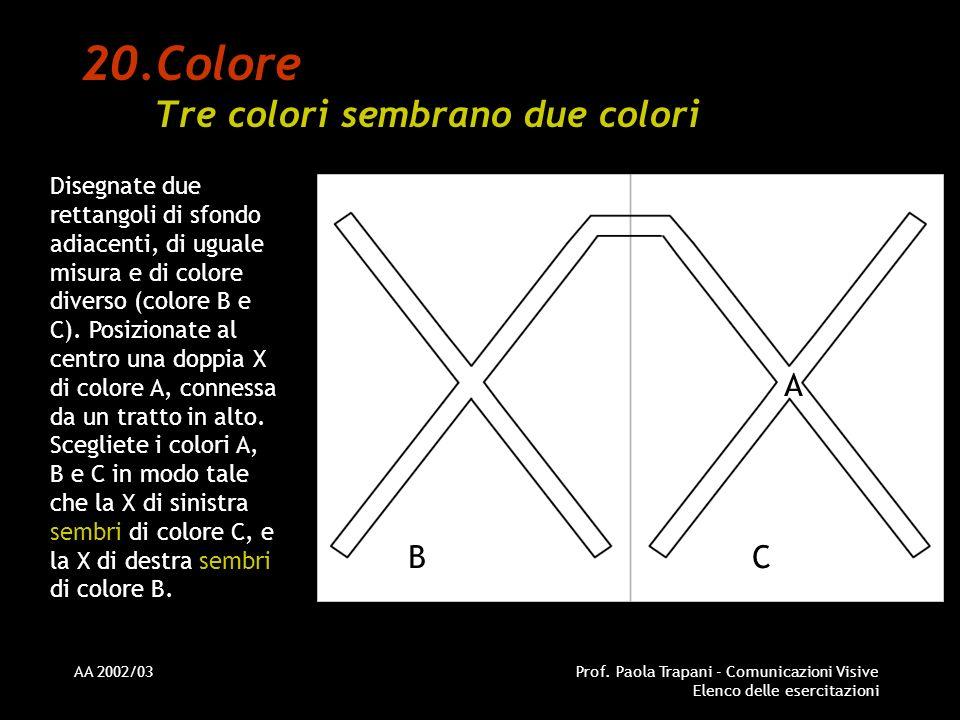 Colore Tre colori sembrano due colori